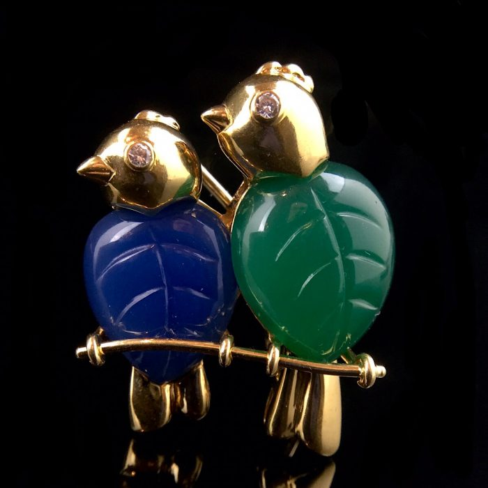Cartier Love Birds Brosche
